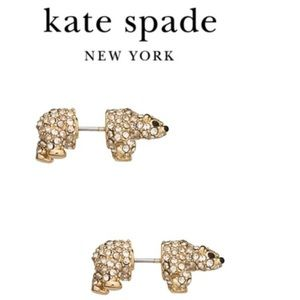 {Kate Spade} Cold Comforts Polar Bear Earrings